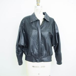 Vintage 80s Brass Plum Leather Jacket